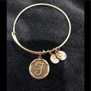 "Alexis and Ani ""F"" Bracelet"